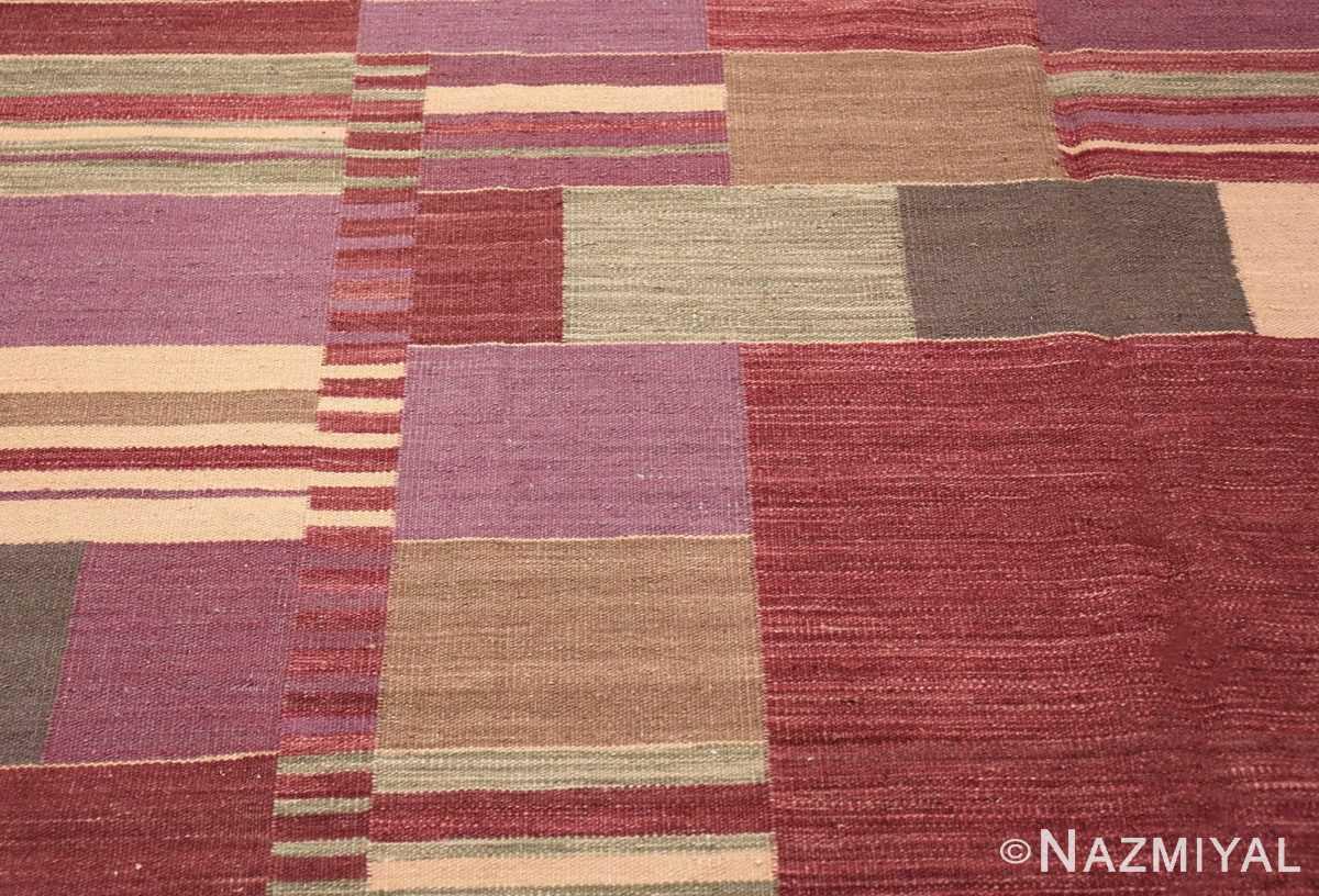 Detail Swedish inspired Scandinavian Modern Kilim carpet 48479 by Nazmiyal
