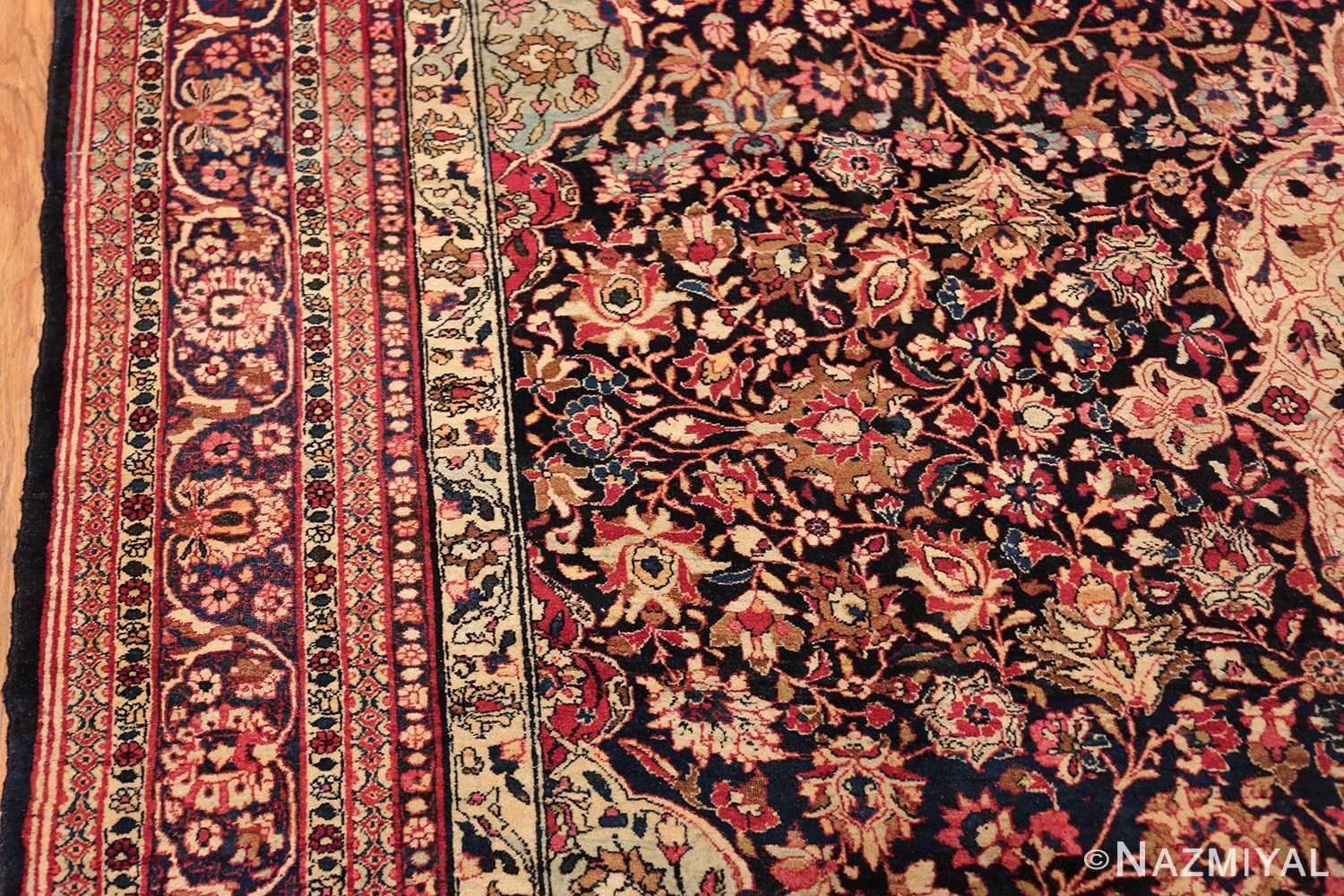 fine antique persian tehran rug 49194 borderNazmiyal