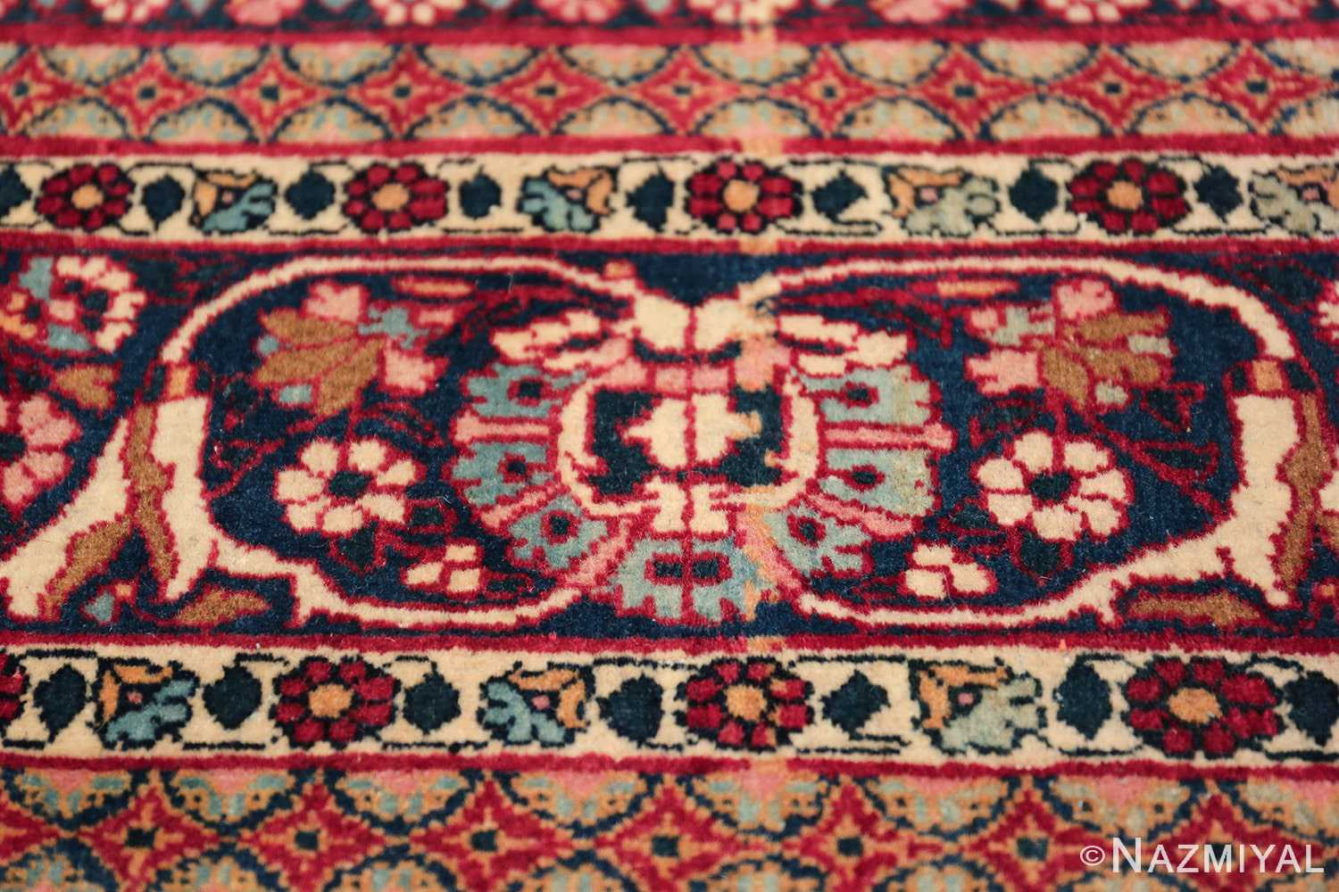 fine antique persian tehran rug 49194 closeup Nazmiyal