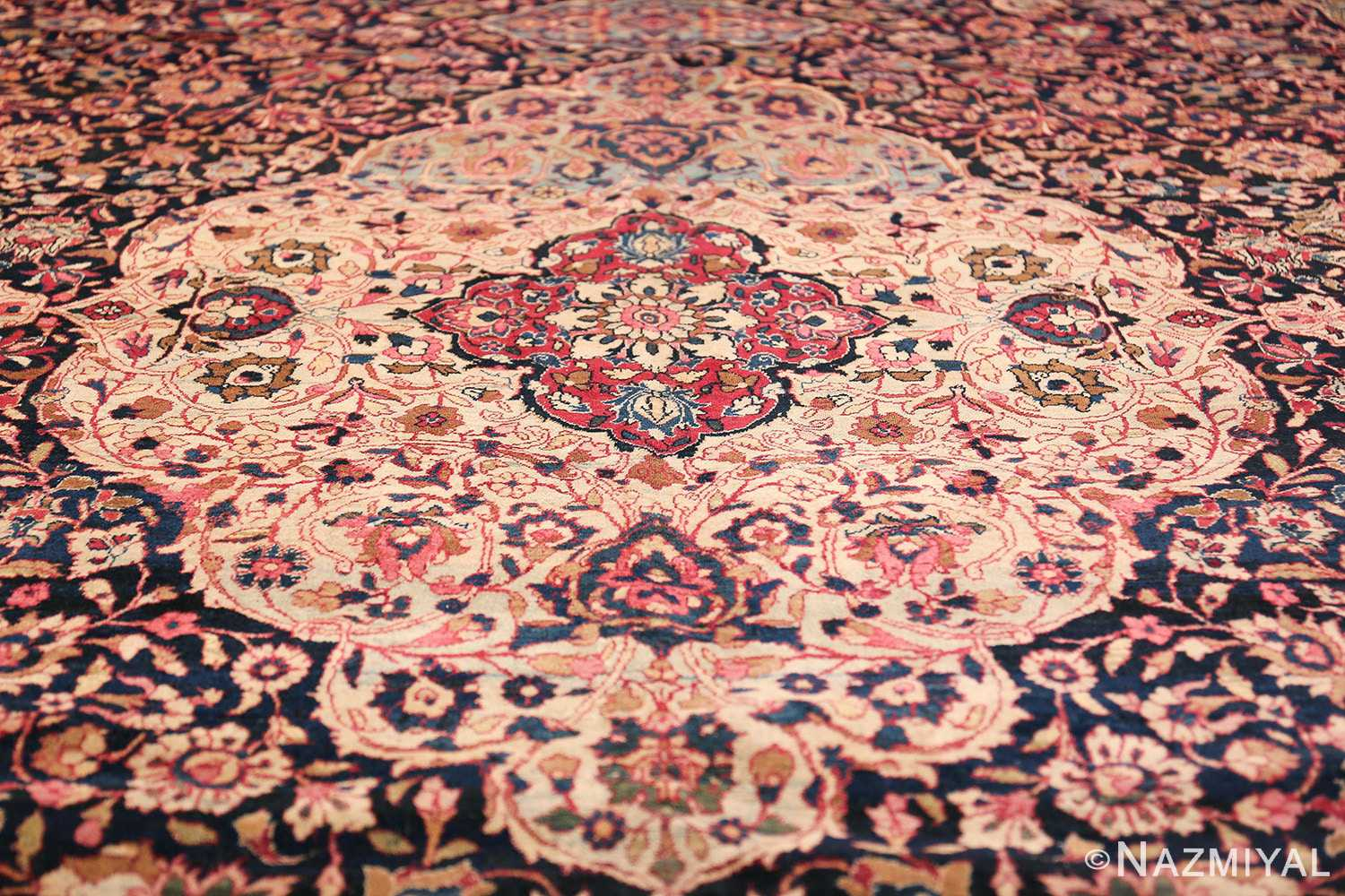 fine antique persian tehran rug 49194 medallion Nazmiyal