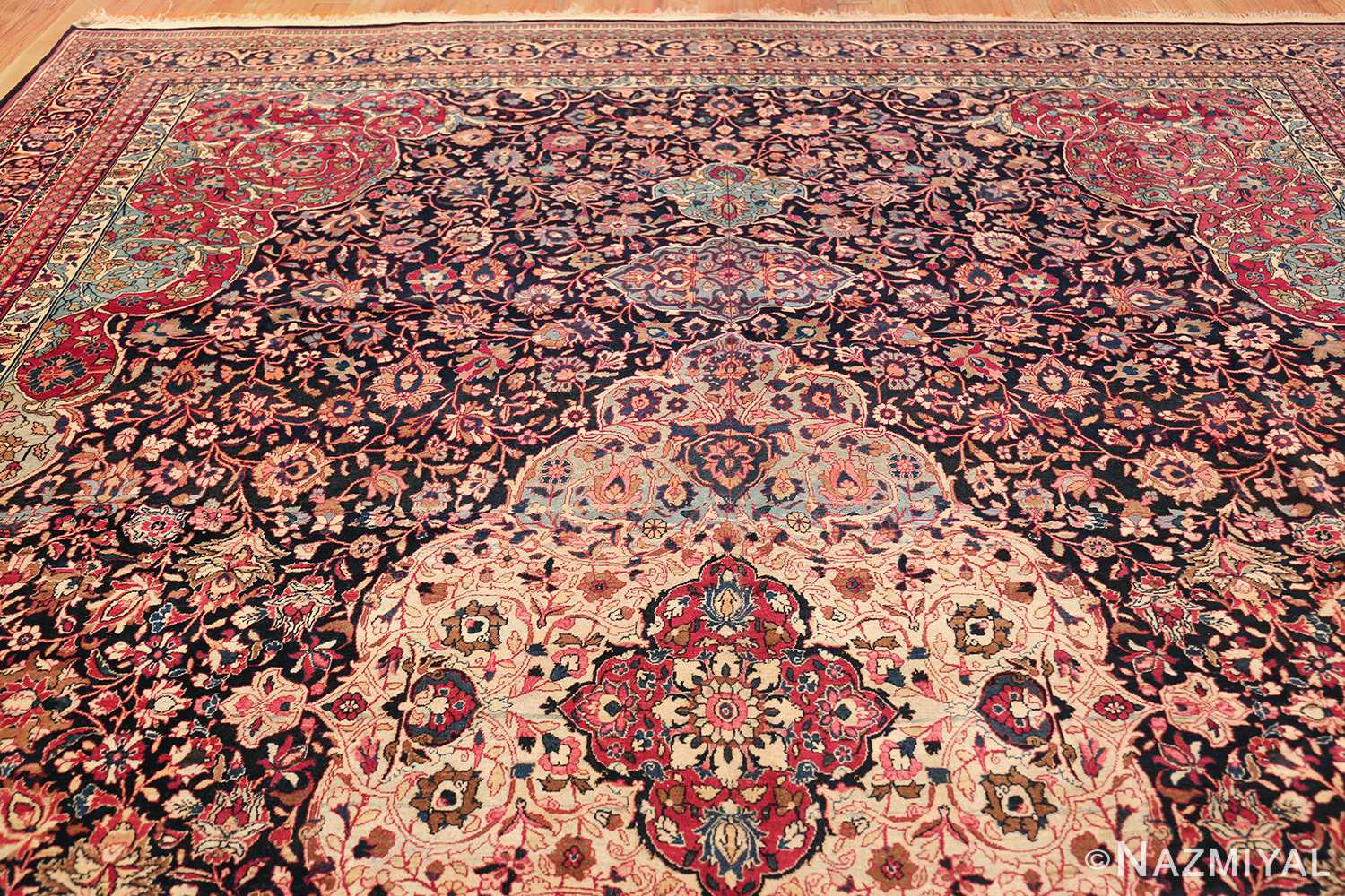 fine antique persian tehran rug 49194 top Nazmiyal