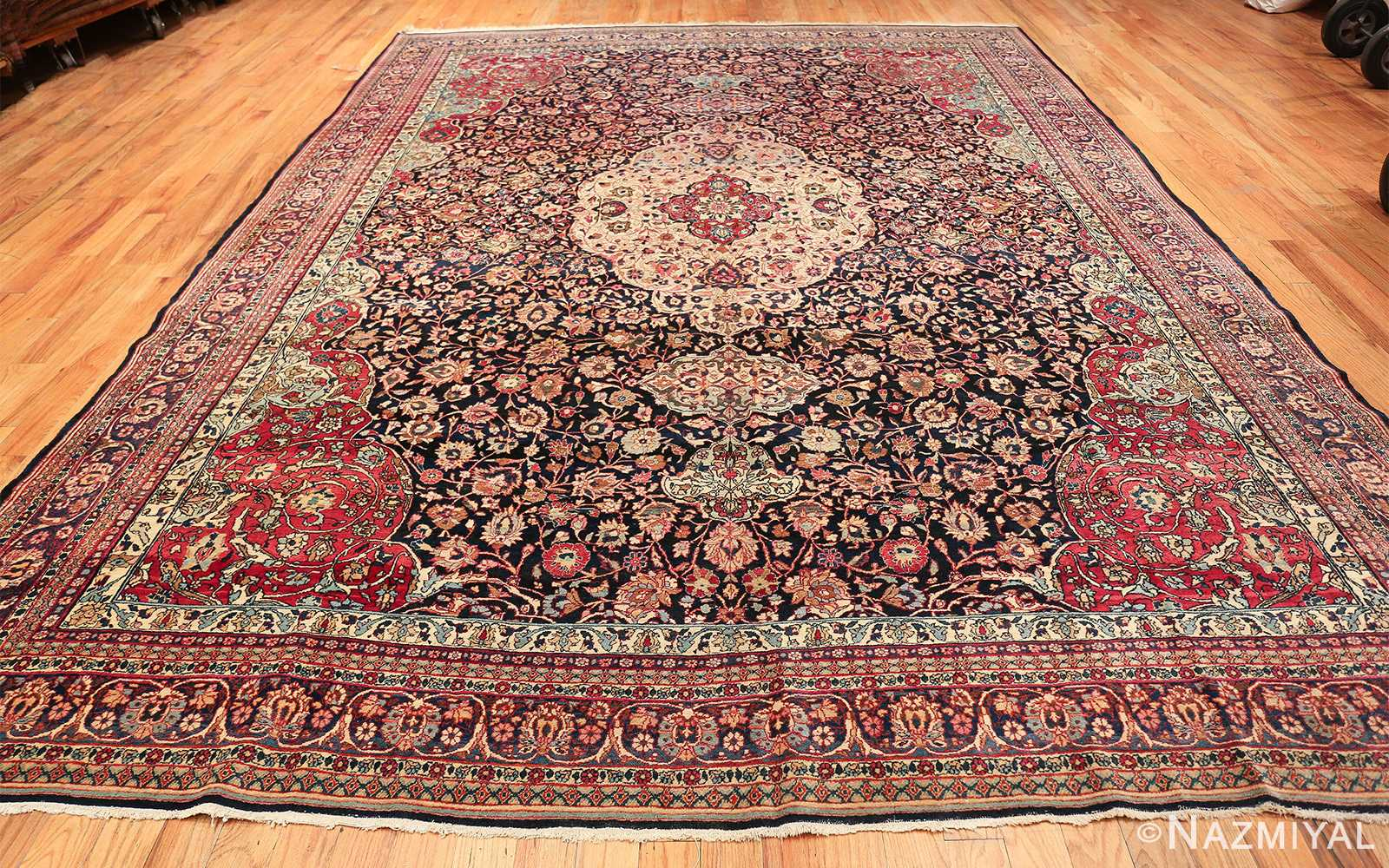 fine antique persian tehran rug 49194 whole Nazmiyal