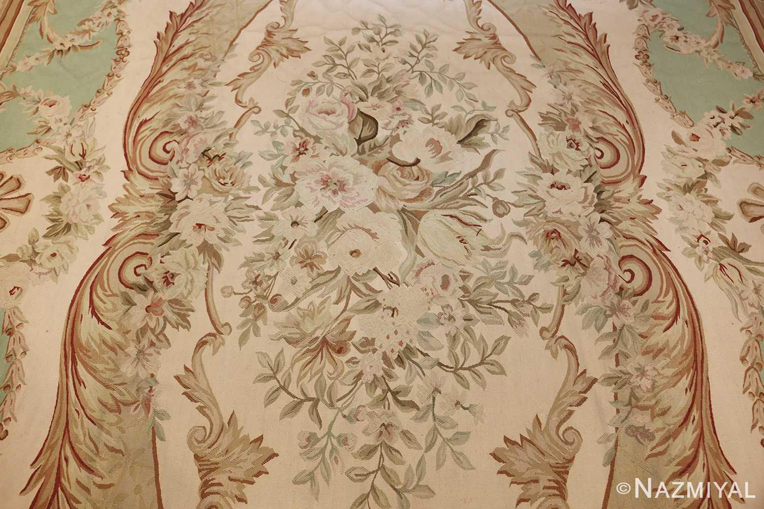 french inspired chinese aubusson modern carpet 44694 medallion Nazmiyal