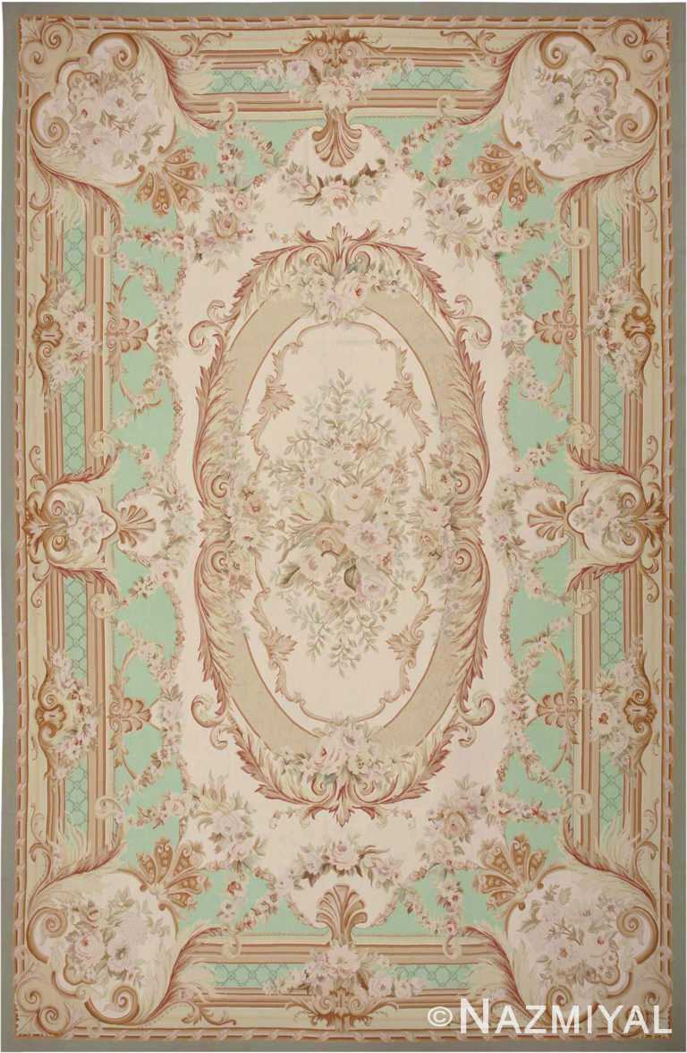 French Inspired Modern Chinese Aubusson Carpet #44694 by Nazmiyal Antique Rugs