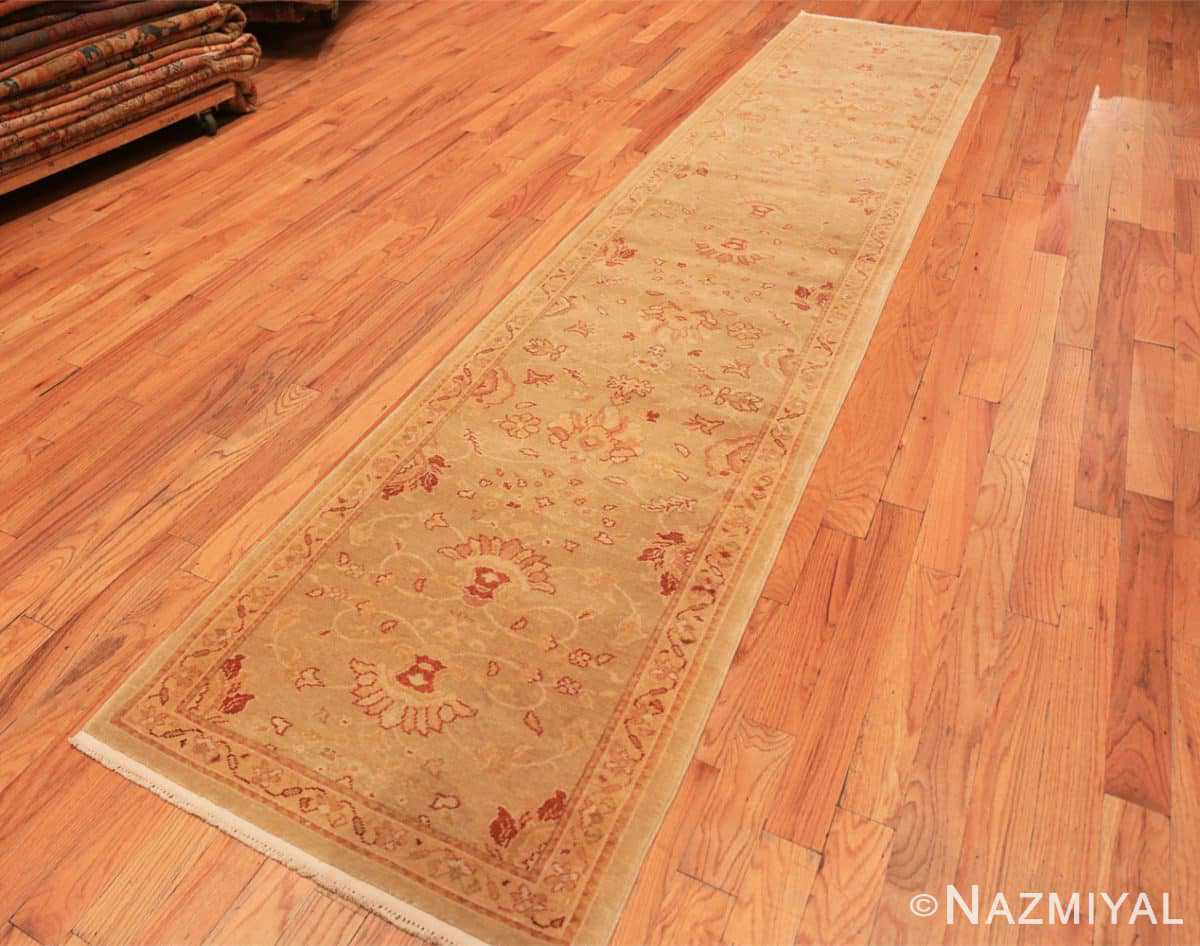 Full contemporary modern Oushak runner rug 46155 by Nazmiyal