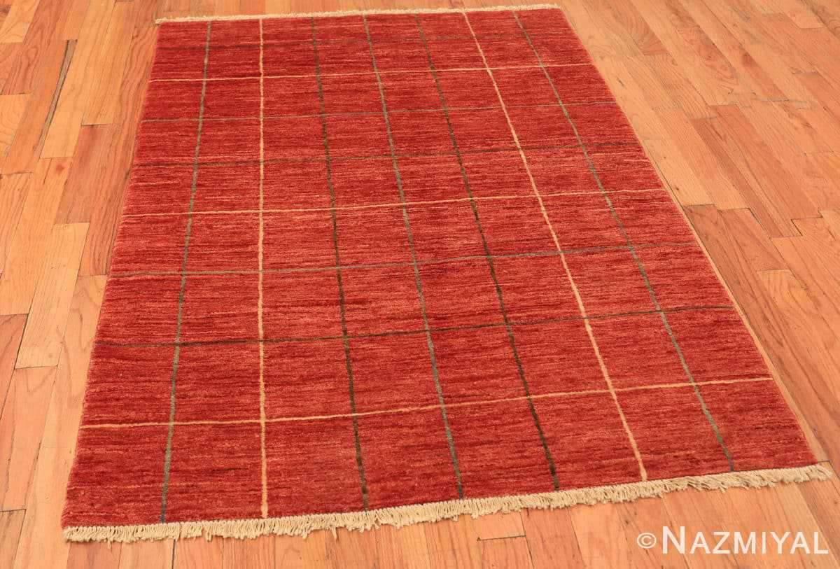 Full Modern Persian Gebbeh rug design from Pakistan 46082 by Nazmiyal