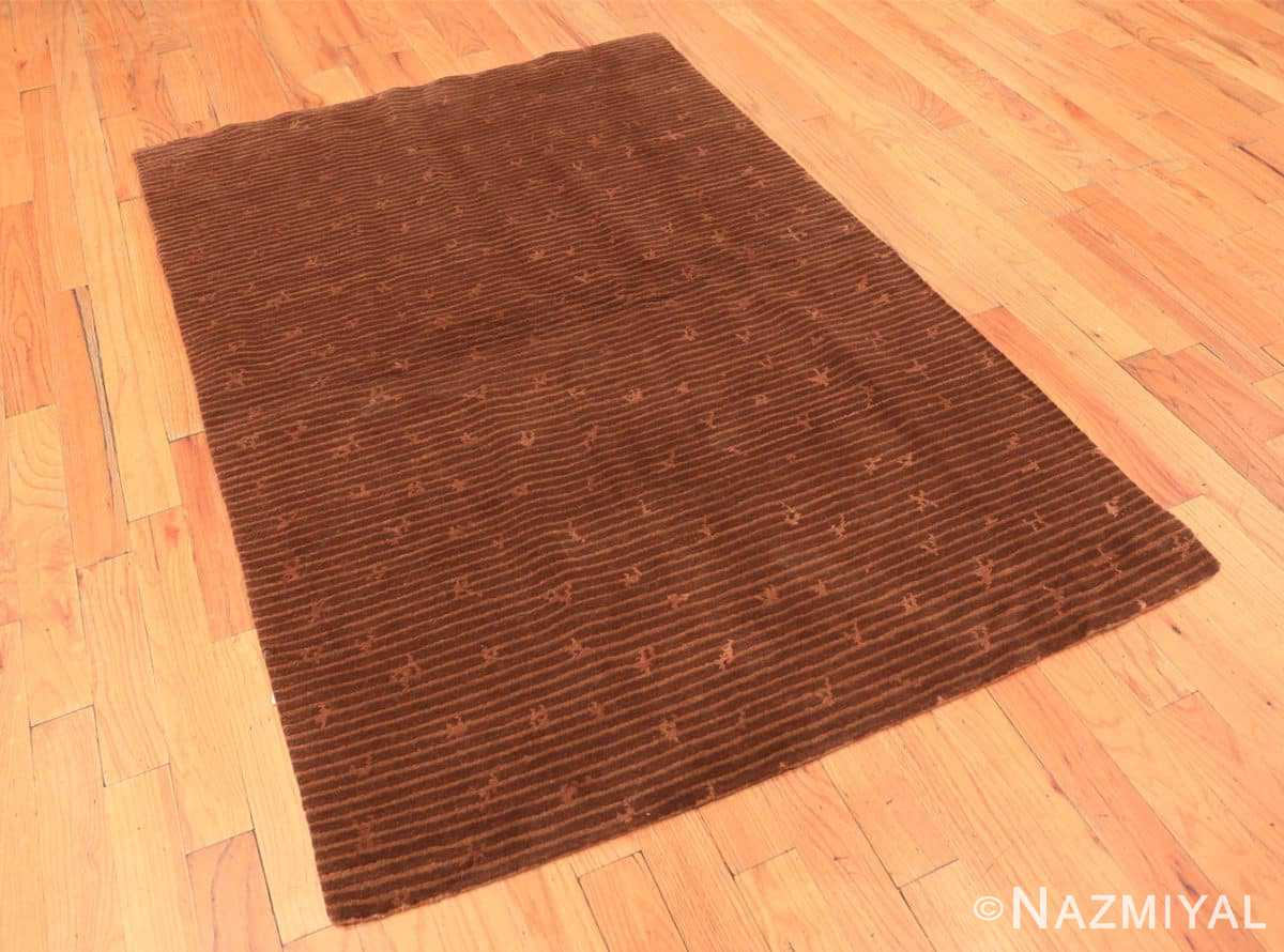 Full modern silk and wool Nepalese rug 44678 by Nazmiyal