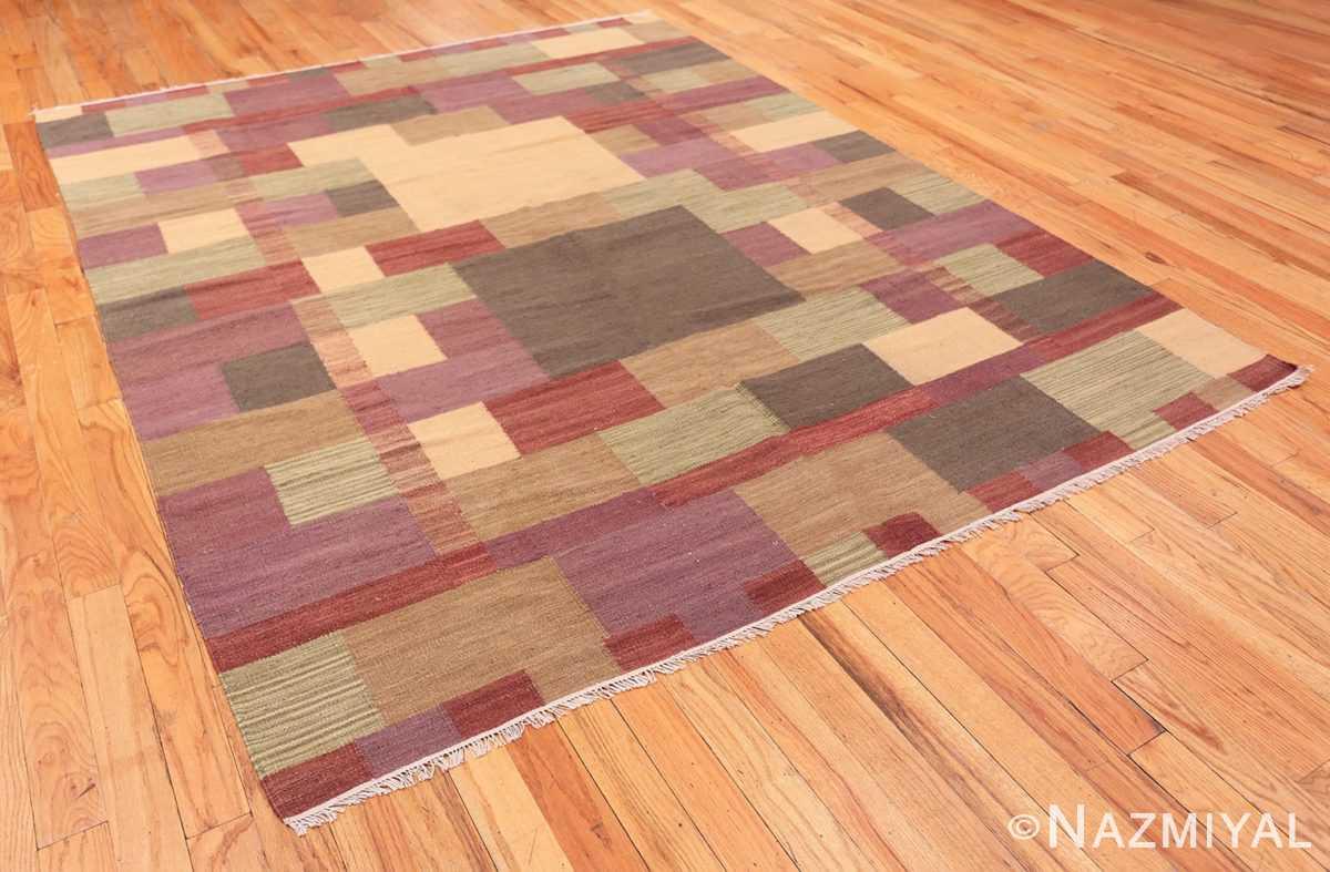 Full Swedish inspired modern Kilim rug 48478 by Nazmiyal