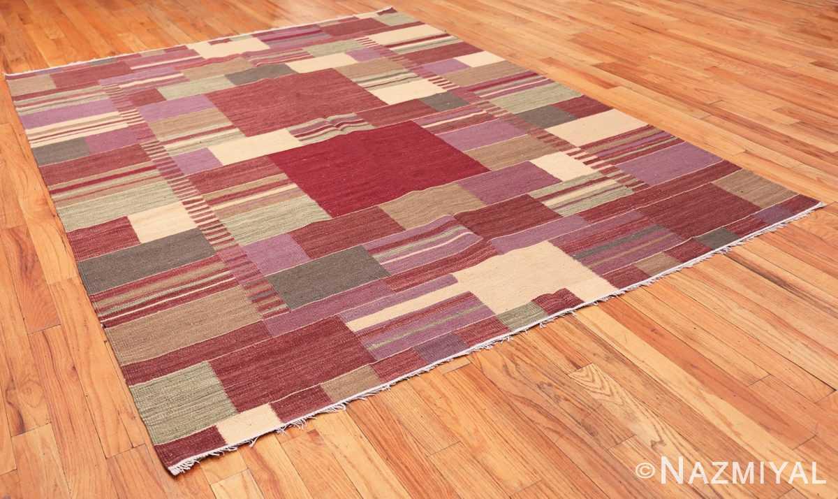 Full Swedish inspired Scandinavian Modern Kilim carpet 48479 by Nazmiyal