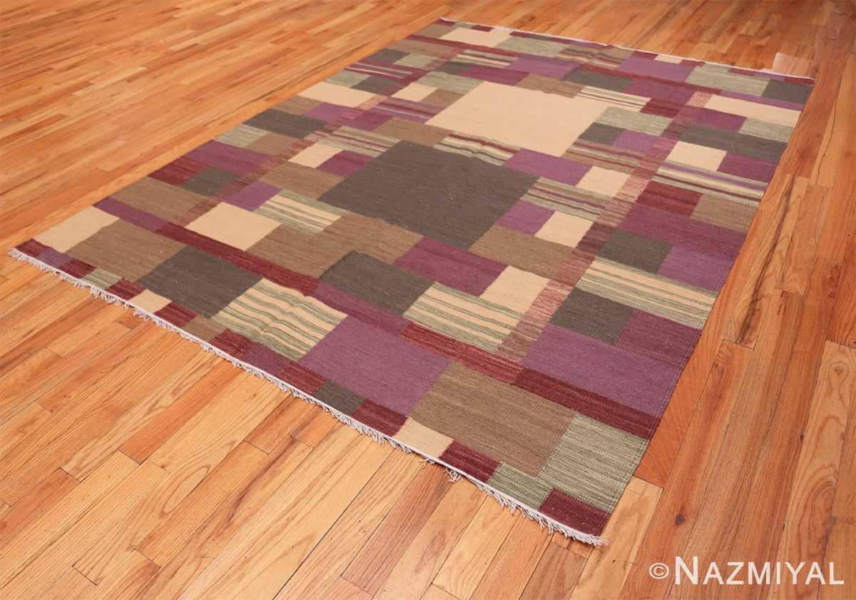 Full Swedish Scandinavian style Modern Kilim rug 48477 by Nazmiyal