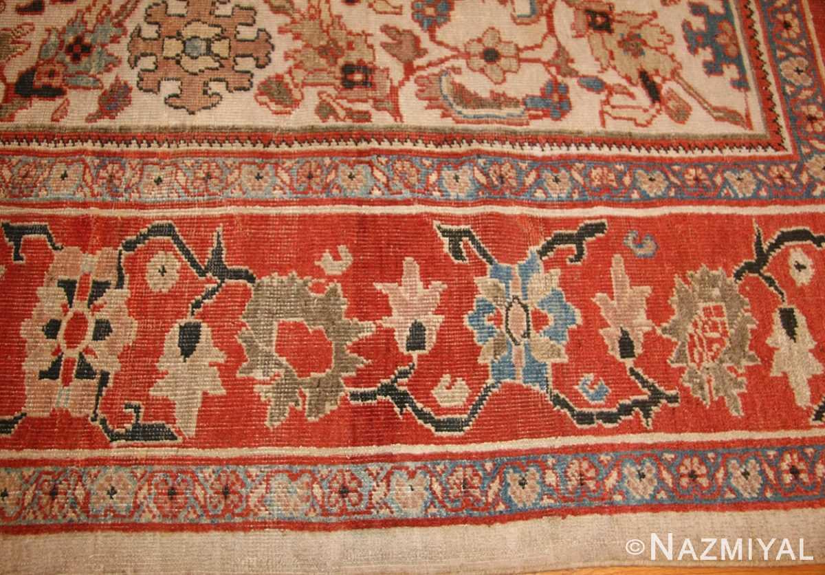 ivory antique persian sultanabad rug 49138 border Nazmiyal