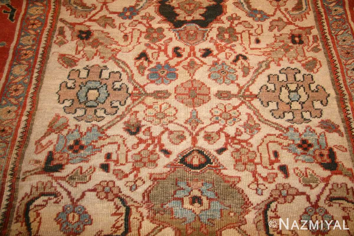 ivory antique persian sultanabad rug 49138 field Nazmiyal