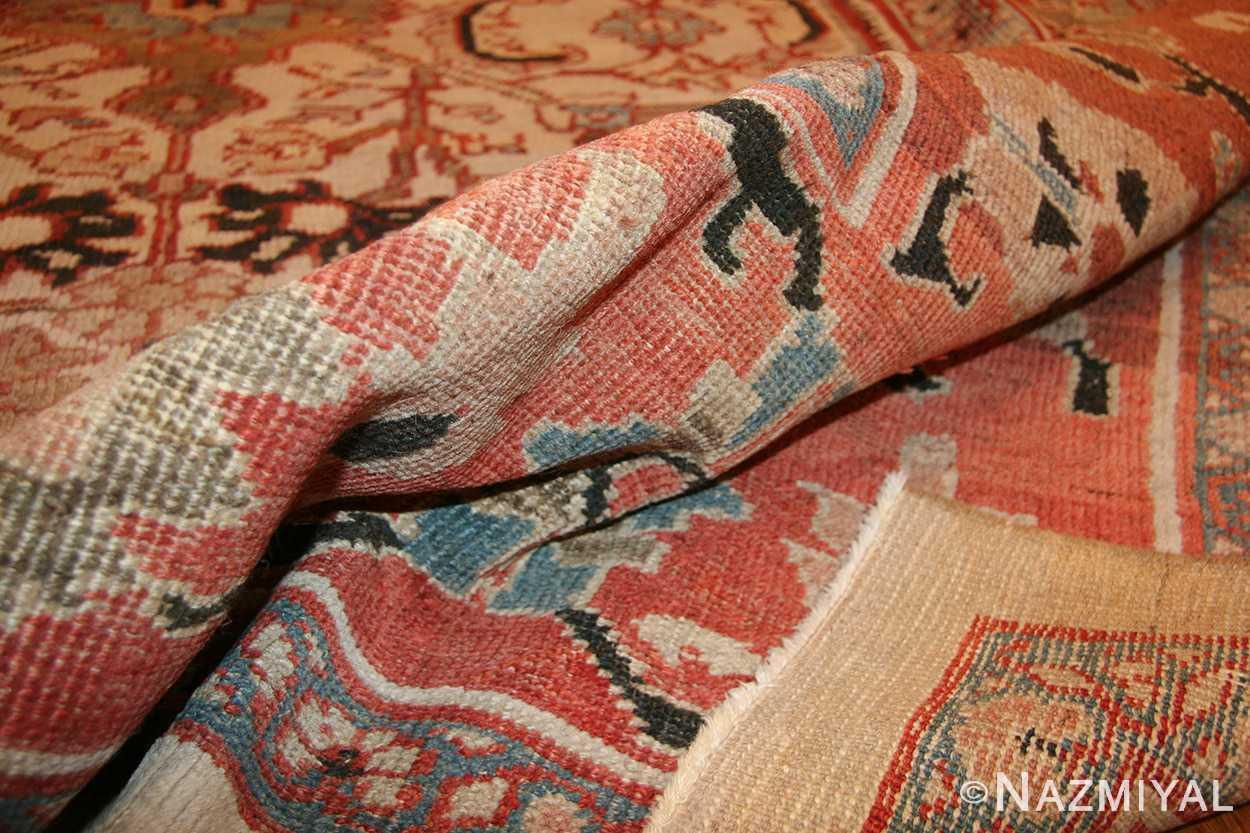 ivory antique persian sultanabad rug 49138 pile Nazmiyal
