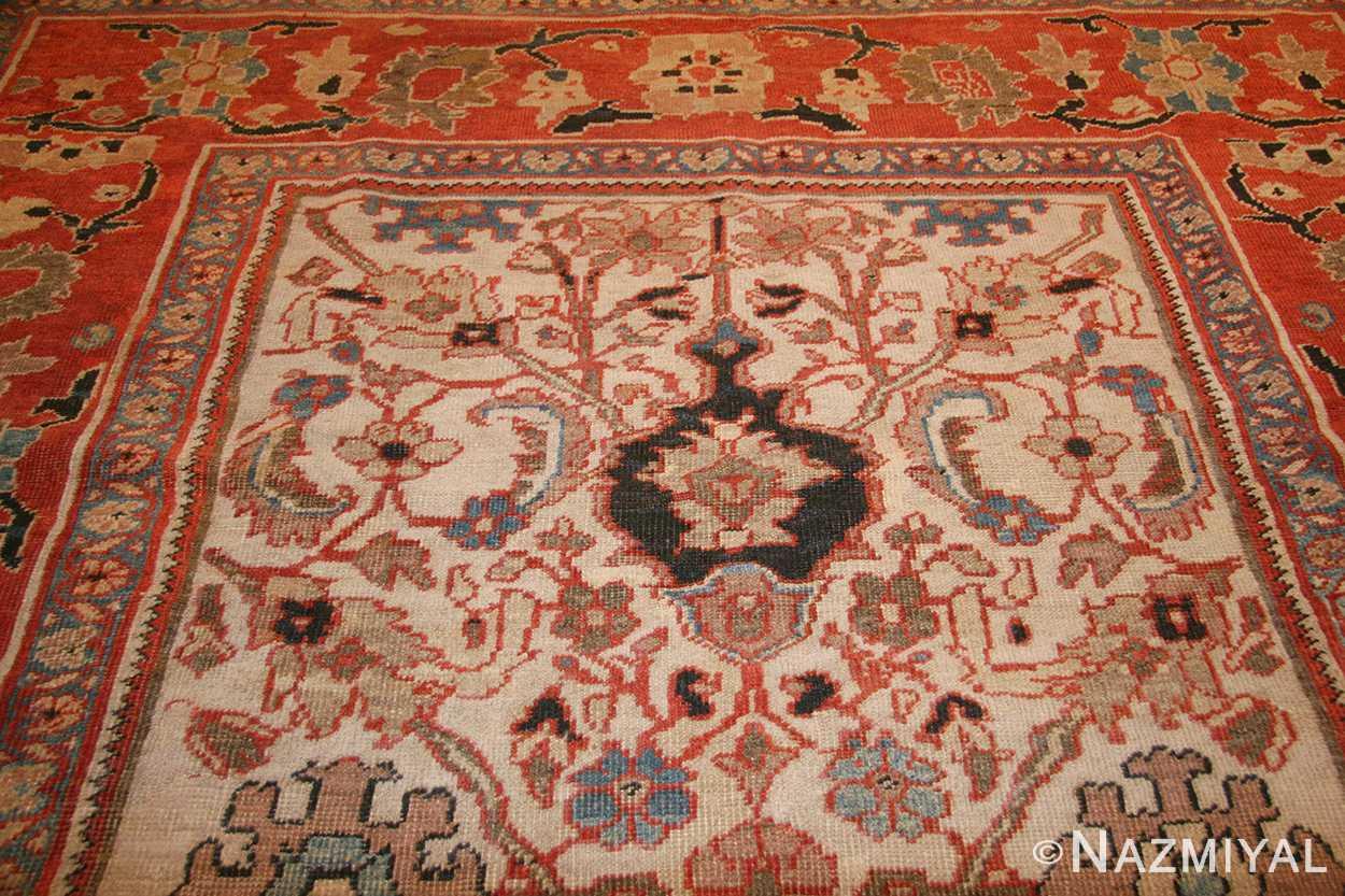 ivory antique persian sultanabad rug 49138 top Nazmiyal