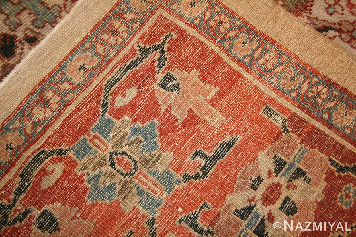 ivory antique persian sultanabad rug 49138 weave Nazmiyal