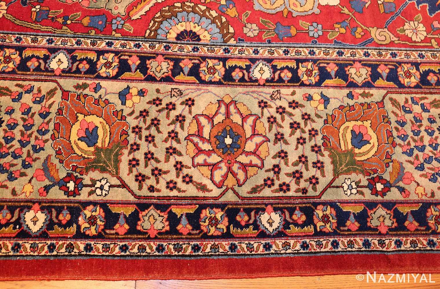 large antique vase design persian tabriz rug 49196 border Nazmiyal