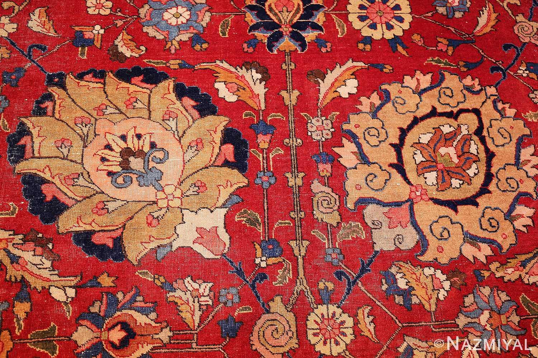 large antique vase design persian tabriz rug 49196 detail Nazmiyal