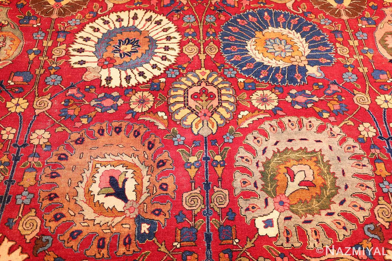 large antique vase design persian tabriz rug 49196 field Nazmiyal