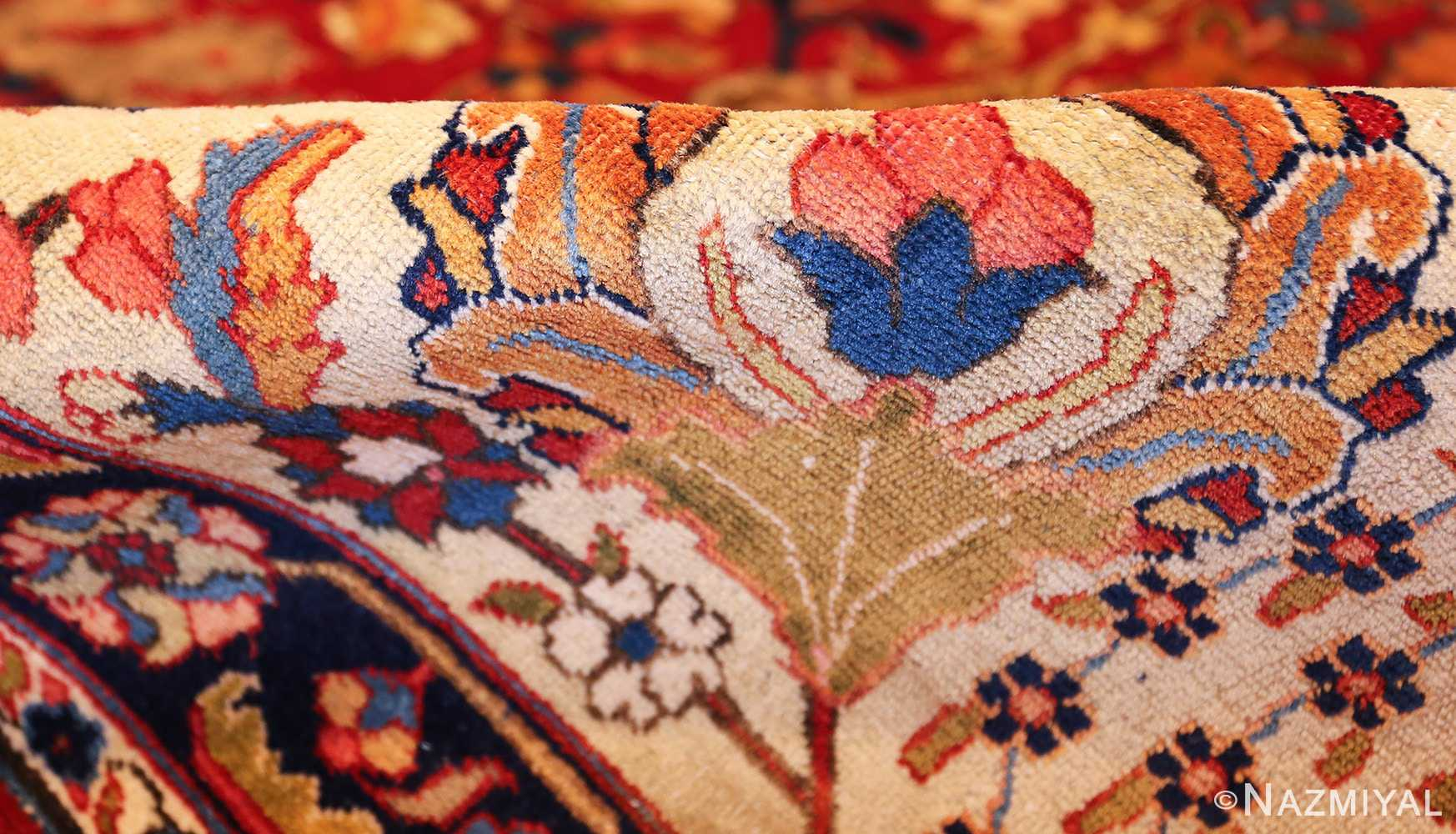large antique vase design persian tabriz rug 49196 pile Nazmiyal