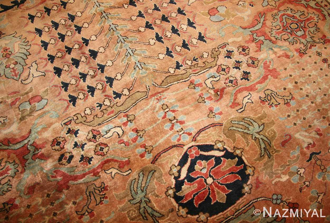 large room size vintage indian agra rug 49186 detail Nazmiyal