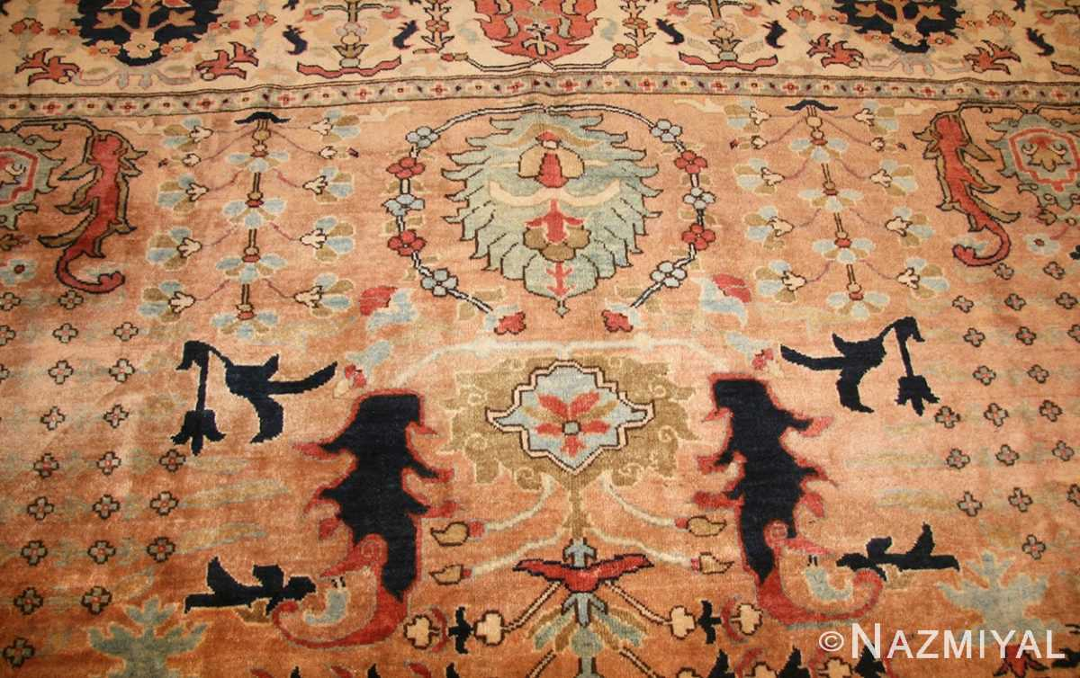 large room size vintage indian agra rug 49186 field Nazmiyal