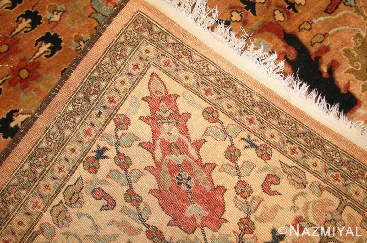 large room size vintage indian agra rug 49186 weave Nazmiyal