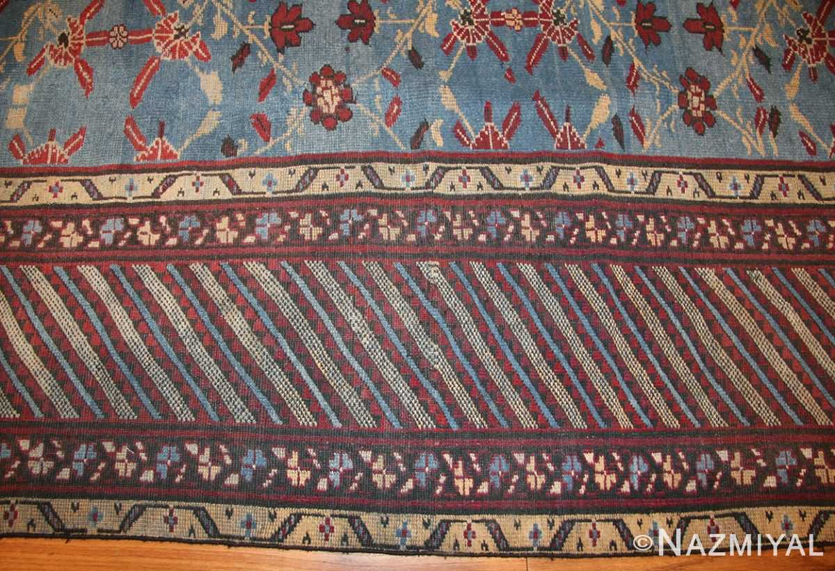 light blue room size antique indian rug 48823 border Nazmiyal
