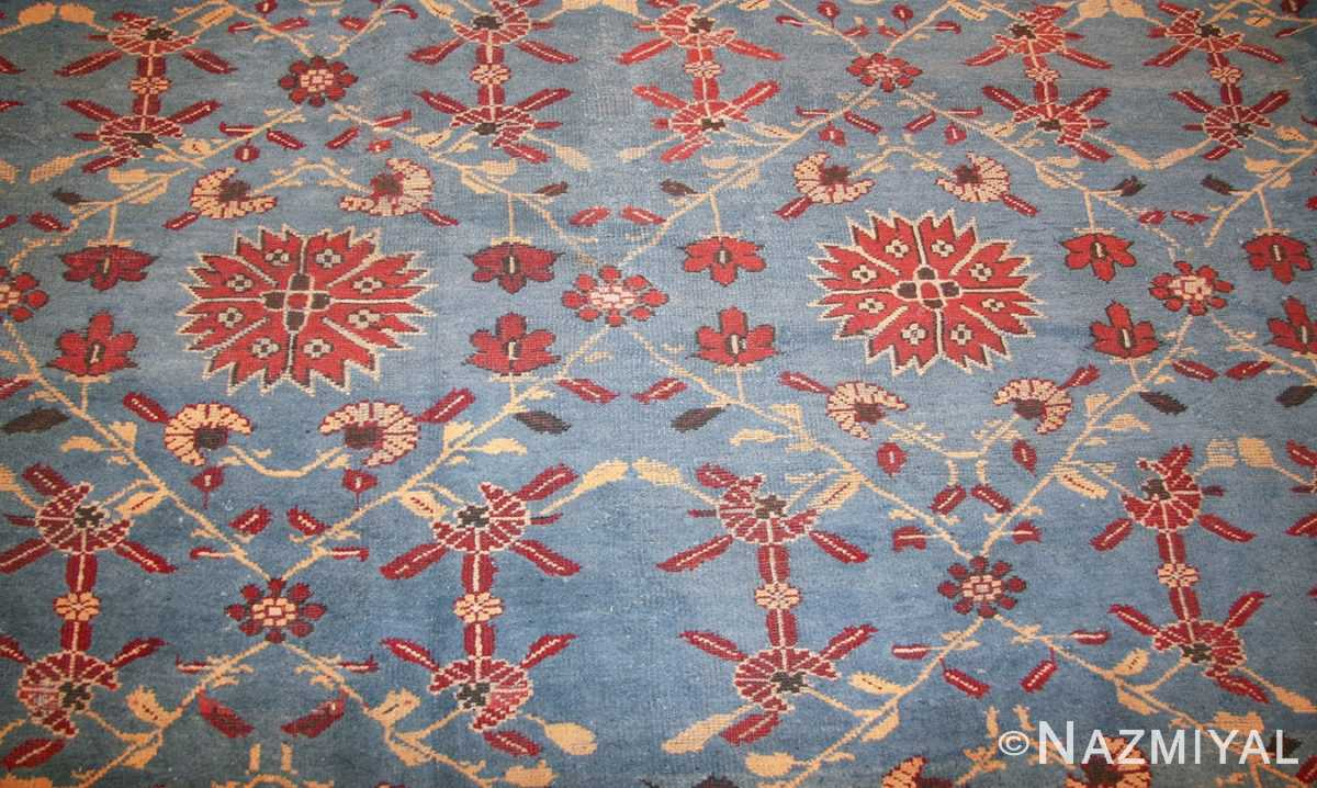 light blue room size antique indian rug 48823 field Nazmiyal