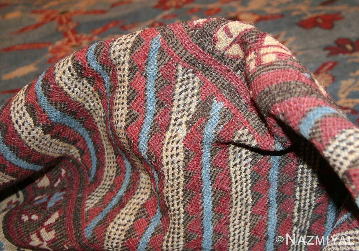 light blue room size antique indian rug 48823 pile Nazmiyal