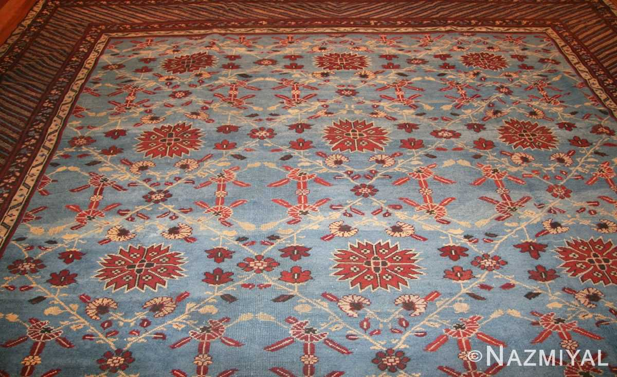 light blue room size antique indian rug 48823 top Nazmiyal