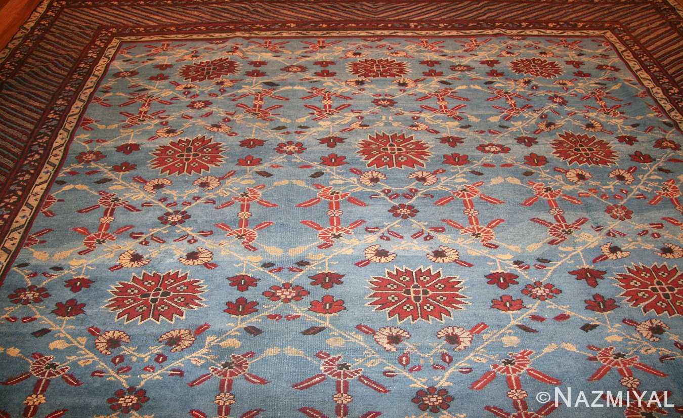 light blue room size antique indian rug 48823 top Nazmiyal