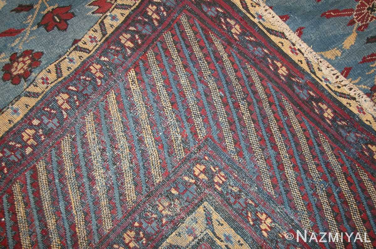 light blue room size antique indian rug 48823 weave Nazmiyal