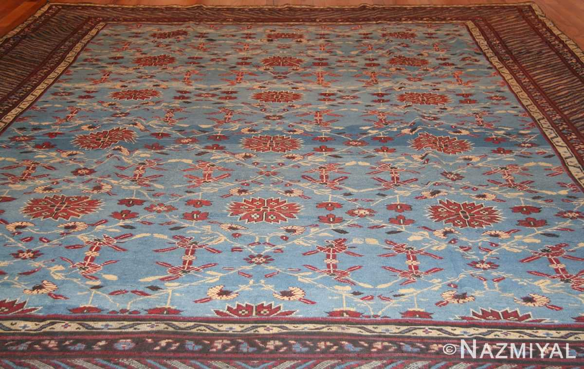 light blue room size antique indian rug 48823 whole Nazmiyal