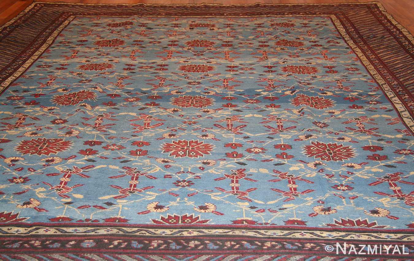 light blue room size antique indian rug 48823 whole Nazmiyal
