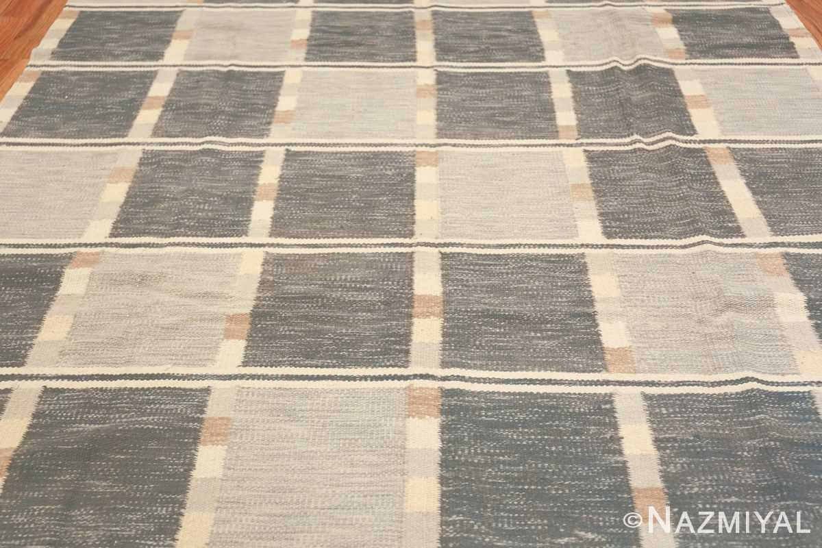modern contemporary Swedish inspired kilim rug 48384 field Nazmiyal