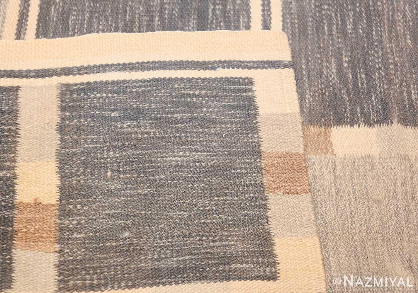 modern contemporary Swedish inspired kilim rug 48384 knots Nazmiyal