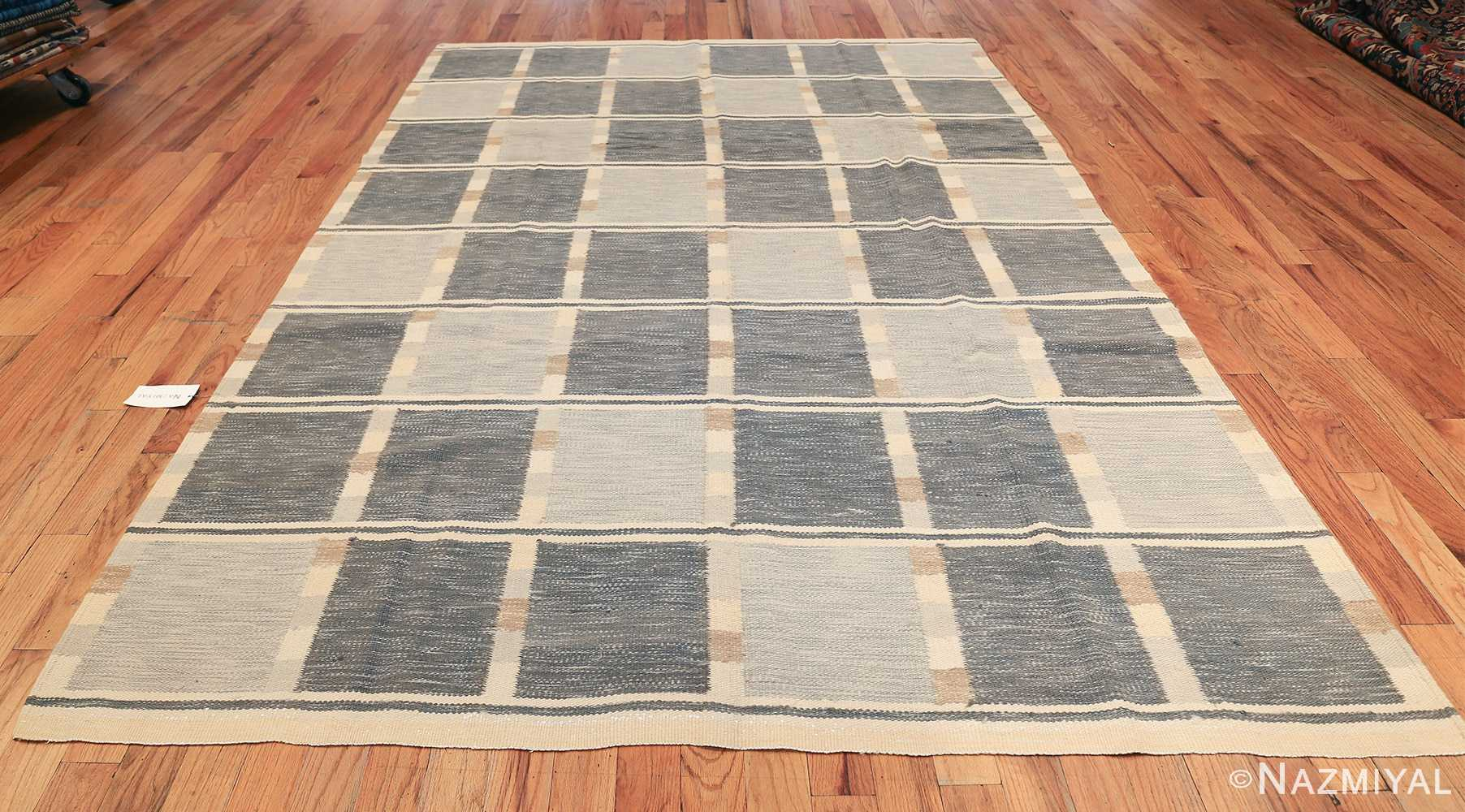 modern contemporary Swedish inspired kilim rug 48384 whole Nazmiyal