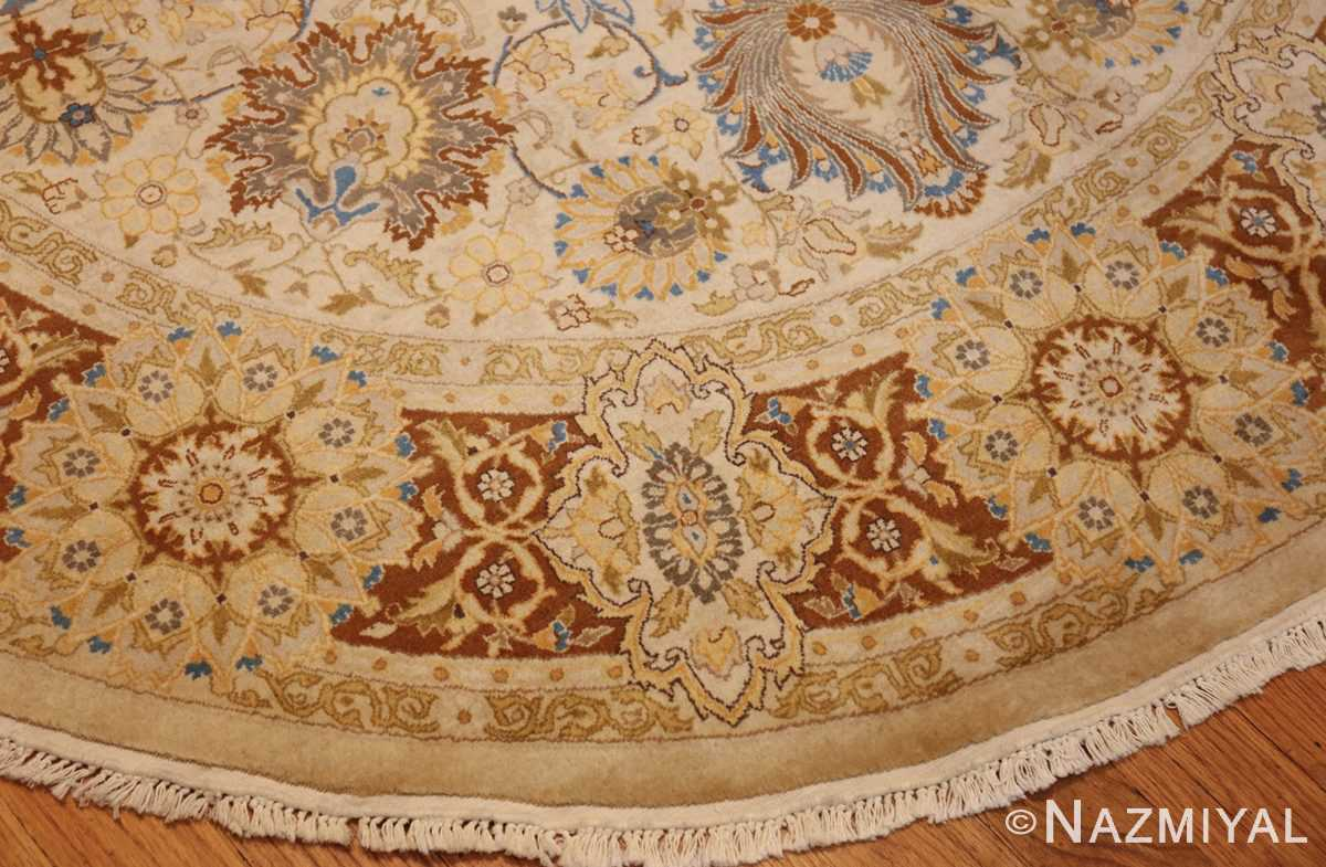 modern persian tabriz design round rug 44674 border Nazmiyal