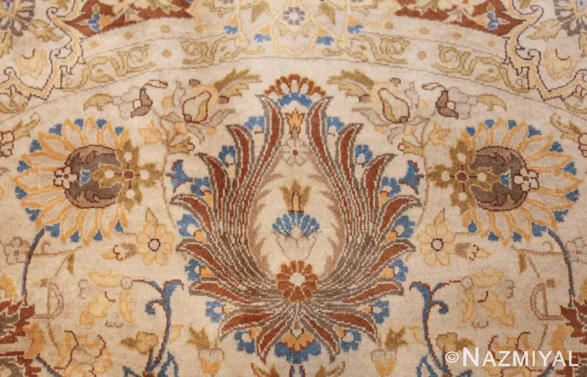 modern persian tabriz design round rug 44674 flower Nazmiyal
