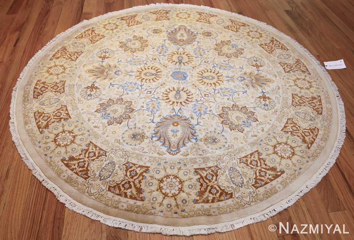 modern persian tabriz design round rug 44674 weave Nazmiyal
