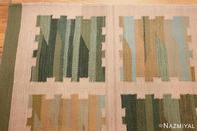 modern swedish scandinavian inspired kilim rug 48760 corner Nazmiyal