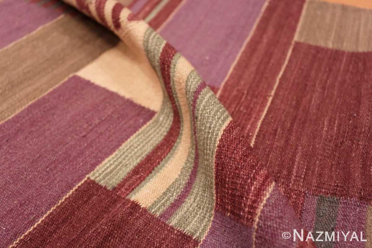 Pile Swedish inspired Scandinavian Modern Kilim carpet 48479 by Nazmiyal