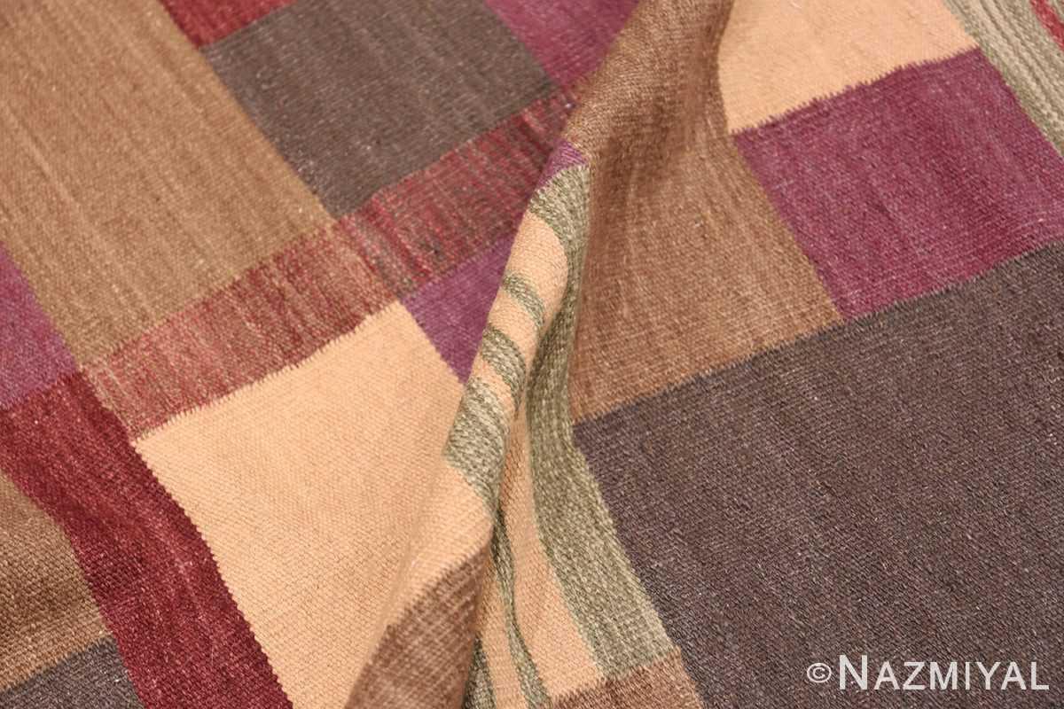 Pile Swedish Scandinavian style Modern Kilim rug 48477 by Nazmiyal