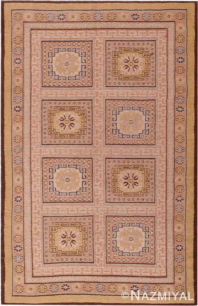 Small Khotan Design Modern Romanian Rug #44676 by Nazmiyal Antique Rugs