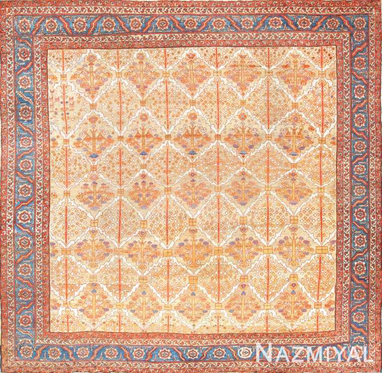 square persian bakshaish rug 49200 Nazmiyal