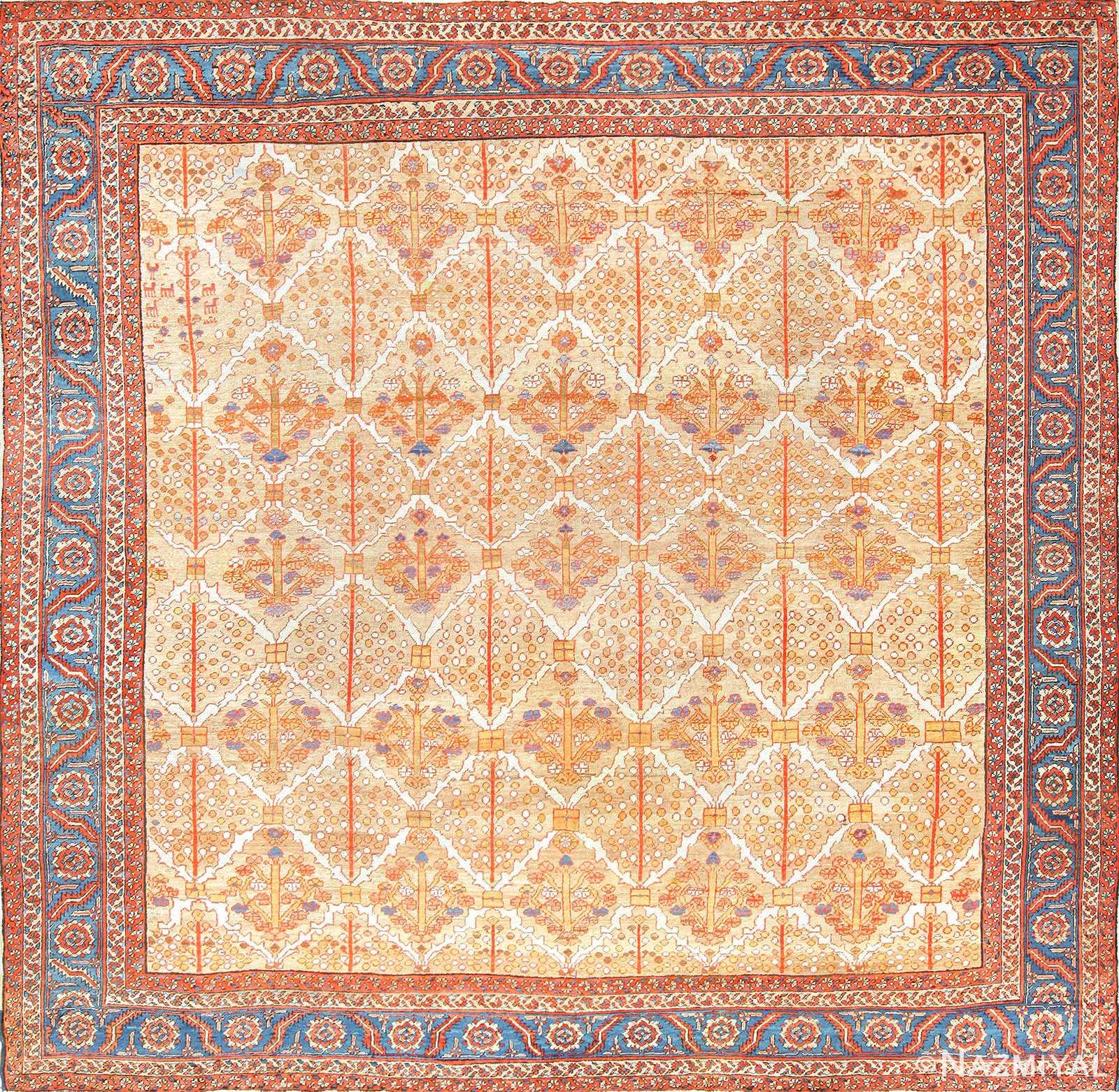 square persian bakshaish rug 49200 Nazmiyal
