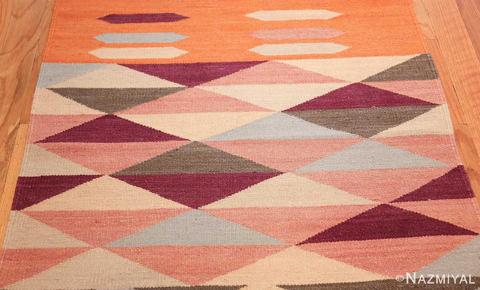 swedish scandinavian inspired modern kilim runner rug 48475 field Nazmiyal