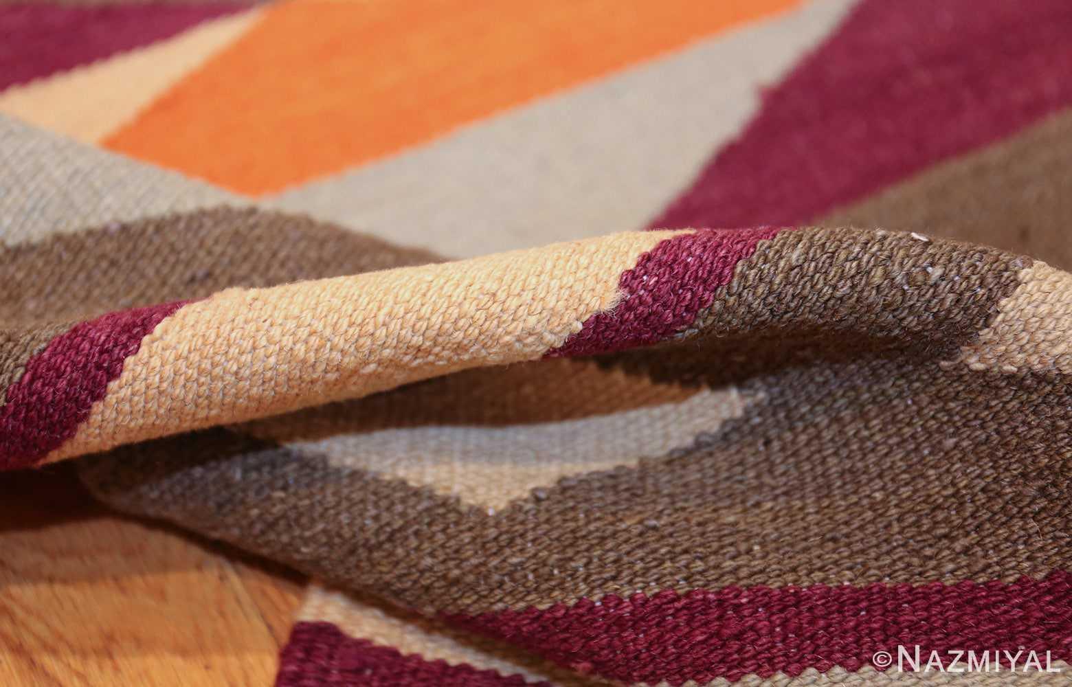 swedish scandinavian inspired modern kilim runner rug 48475 pile Nazmiyal