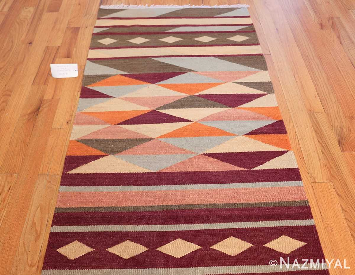 swedish scandinavian inspired modern kilim runner rug 48475 top Nazmiyal