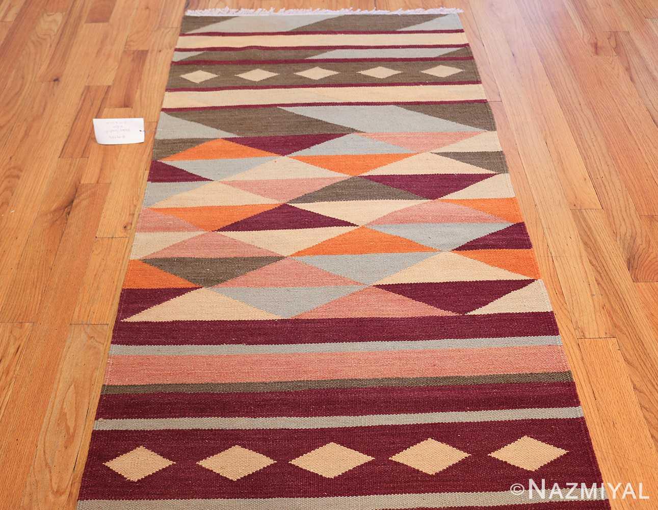 swedish scandinavian inspired modern kilim runner rug 48475 top Nazmiyal
